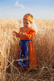 Little girl in a national Armenian dress Stock Photography