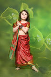 A little girl is in the national Indian dress Stock Image