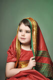 A little girl is in the national Indian dress Royalty Free Stock Photography