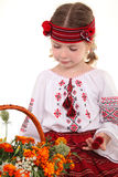 Little girl in the national Ukrainian costume Stock Images