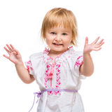 Little girl in the national Ukrainian costume Royalty Free Stock Images