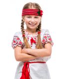 Little girl in the national Ukrainian costume Stock Photography