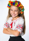 Little girl in the national Ukrainian costume Royalty Free Stock Photography