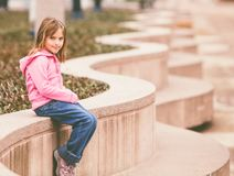 Girl in the park royalty free stock photography