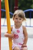 Little girl on nature Stock Photo