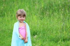 Little girl on nature Stock Photo