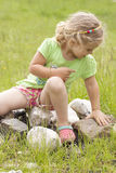 Little girl in nature Royalty Free Stock Photo