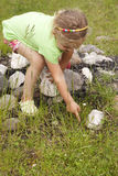 Little girl in nature Stock Photography