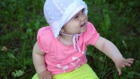 Little girl in nature stock video