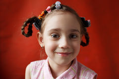 The little girl naughty school age Stock Photos