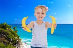 Little girl near the ocean Stock Photography