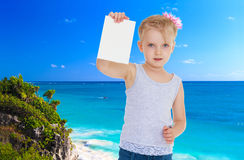 Little girl near the ocean Royalty Free Stock Photography