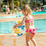 Little  girl near the pool Royalty Free Stock Images