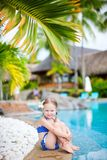 Little girl near swimming pool Stock Photography
