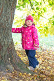 Little girl near the tree Stock Photography
