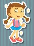 Little girl in new dress. Illustration stock illustration