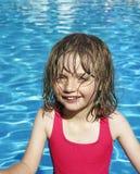 Little girl ni a bacin Royalty Free Stock Photography
