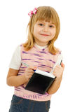 Little girl with notebook Stock Image