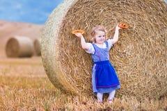 Little girl during Oktoberfest Stock Images