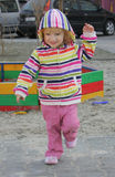 Little Girl On The Playground Royalty Free Stock Photography