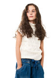 Little Girl On White Royalty Free Stock Images