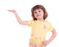 Little girl with one hand outstretched Royalty Free Stock Photo