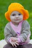 Little girl in an orange beret Stock Image
