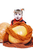 Little girl in an orange vest Stock Photography