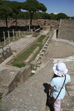 Little girl at Ostia Antica, Rome, Italy Stock Photos