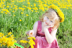 Little girl outdoor Stock Image