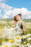 Little girl outdoor royalty free stock images