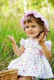 Little girl in the outdoor Stock Photography