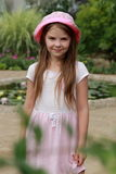 Little girl outdoor Stock Photo