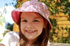 Little girl outdoor Stock Photography