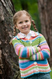 Little girl outdoor portrait Royalty Free Stock Images