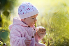 Little girl outdoor portrait Stock Photo