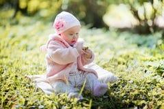 Little girl outdoor portrait Stock Image