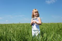 Little girl outdoors Royalty Free Stock Photography