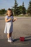 Little girl outdoors Stock Photos