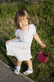 Little girl outdoors Royalty Free Stock Photo
