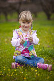 Little girl outdoors Stock Image