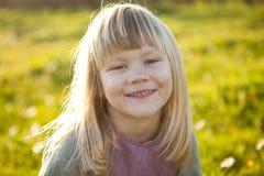 Little girl outdoors Stock Photo