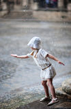 Little girl outdoors Royalty Free Stock Image