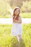 Little girl outdoors Royalty Free Stock Images