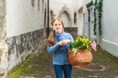 Little girl outdoors Royalty Free Stock Photos