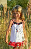 Little girl outdoors portrait. Stock Photography