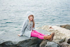 Little girl outdoors Stock Image