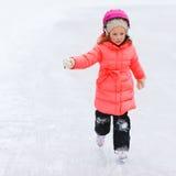 Little girl outdoors on winter Stock Image