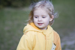 Little girl outside Royalty Free Stock Image