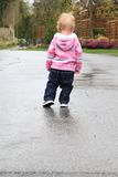 Little girl outside Royalty Free Stock Photo